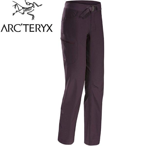 Arcteryx始祖鳥休閒褲登山褲薄軟殼褲快乾排汗Sylvite女款17523統治者紫