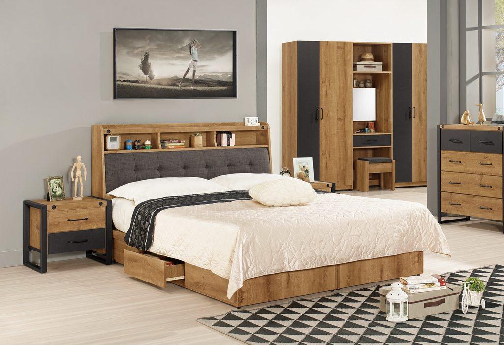 【 尚品傢俱】CM-591-1 布朗克斯6尺被櫥式雙人床 / 5尺被櫥式雙人床 /3.5尺被櫥式單人床
