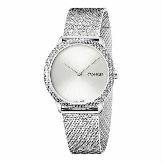 大高雄鐘錶城 Calvin klein 卡文克萊 Minimal系列(K3M22T26) 簡約重溫復古腕錶/ 銀 35mm