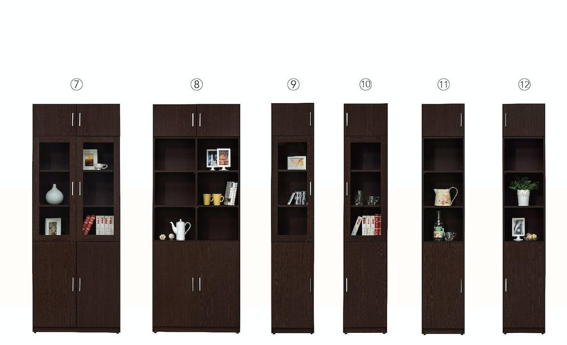 【石川家居】CE-492-08 艾美胡桃2.7尺四門高書櫃(編號8) (不含其他商品) 需搭配車趟費