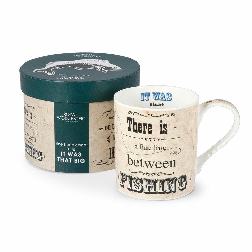 Royal Worcester 英國進口大容量450ml骨瓷馬克杯禮盒 -釣魚