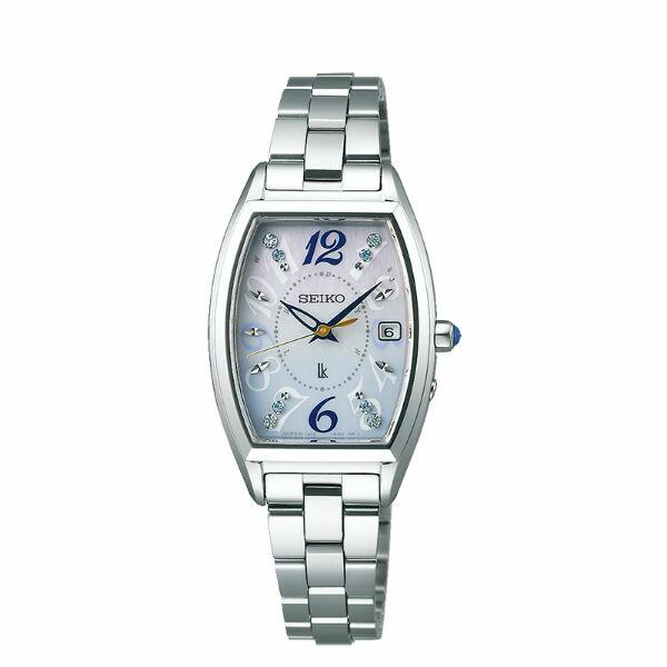 Seiko 精工錶 Lukia系列 1B32-0AA0S (SSVW123J) 夏季限量太陽能電波女錶-23.9mm 藍