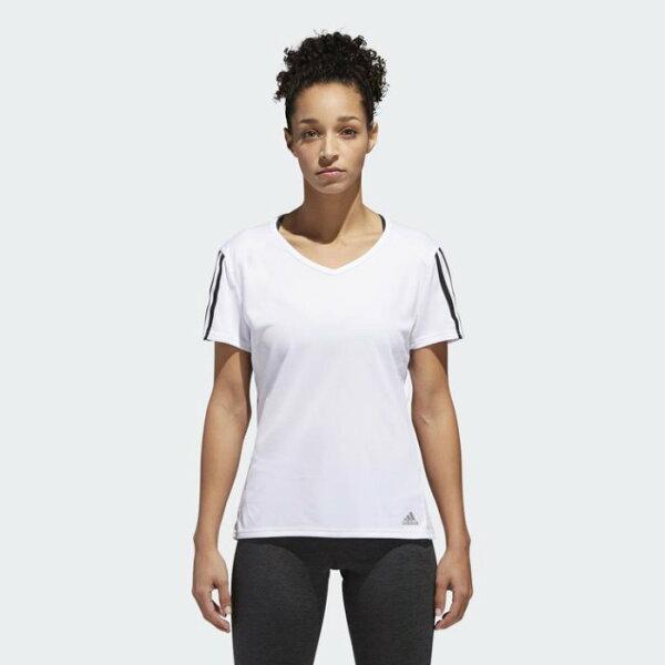 ADIDASclimalite女裝短袖慢跑排汗訓練柔軟舒適白黑【運動世界】CZ7571