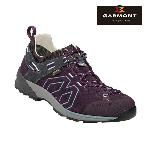 GARMONT女款Gore-Tex低筒郊山健走鞋SantiagoLowGTXWMS481241616深紫城市綠洲(登山健行鞋、GoreTex、防水、黃金大底)