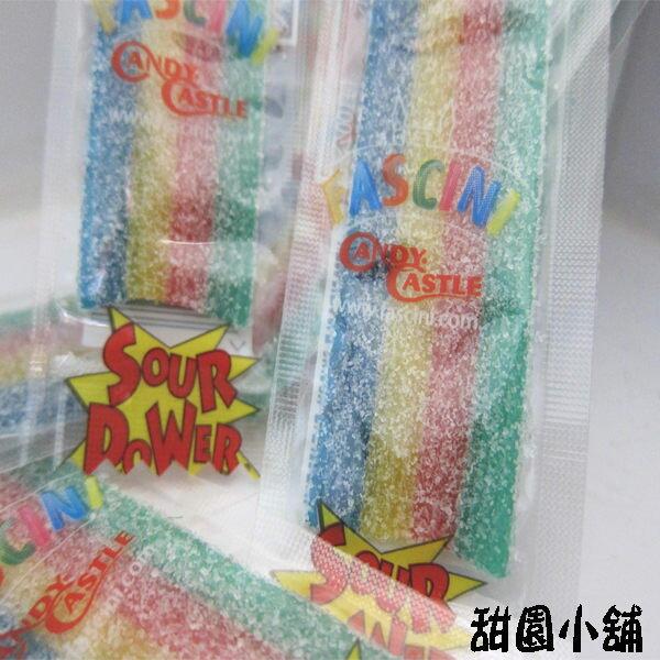 荷蘭進口-酸肩帶/酸扁條/酸扁帶QQ軟糖4色1條(300g)-甜園小舖