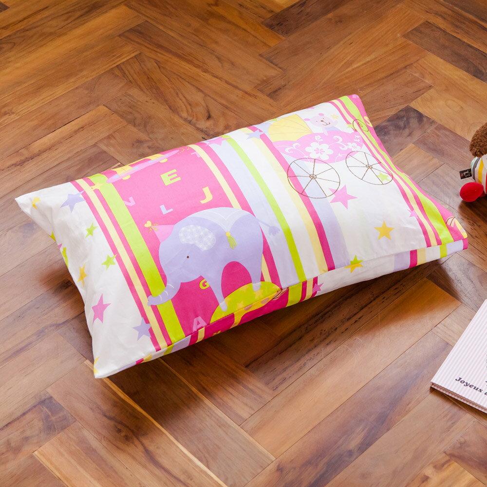 枕頭  兒童枕~防蹣抗菌纖維枕  精梳棉  馬戲團  美國棉 品牌^~鴻宇^~ 製~181