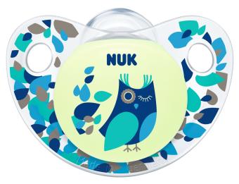 『121婦嬰用品館』NUK 夜光型矽膠安撫奶嘴(一般) - 2入 1
