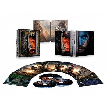 魔獸:崛起(2D+3D+BONUS DISC)限量三碟鐵盒典藏版[角色鐵盒款] (3BD藍光) Warcraft: The Beginning(2D+3D +BONUS DISC) collector..