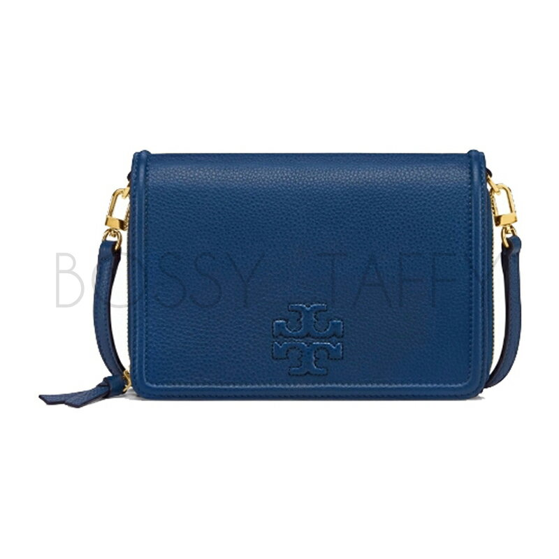 TORY BURCH 11169030 THEA FLAT WALLET CROSSBODY 藍色手拿肩背兩用包