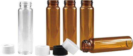 《實驗室耗材專賣》40ml 茶色EPA,VOC,TOC瓶 27.5×95mm 100pcs / pk 實驗儀器 玻璃製品 樣品瓶 儲存瓶 1