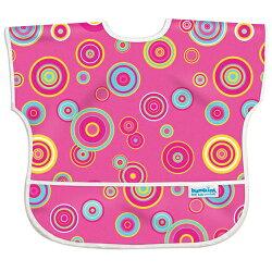 【美國Bumkins】兒童(1-3歲)短袖防水圍兜-粉紅普普風 BKU-420【保證公司貨】【淘氣寶寶】