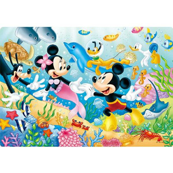 【進口拼圖】大切塊紙板拼圖玩具 迪士尼 米奇米妮海洋世界 60片 DC-60-042