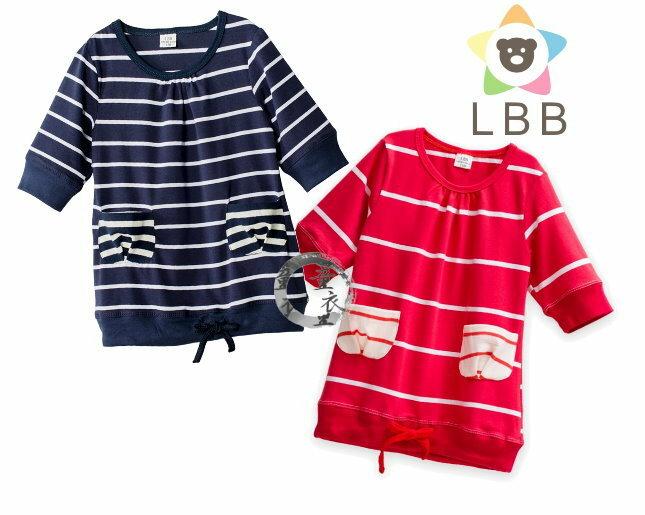 童衣圓~AB016~AB16五分袖上衣 LBB 短袖 條紋 上衣 T恤 綿T 舒適 百搭^