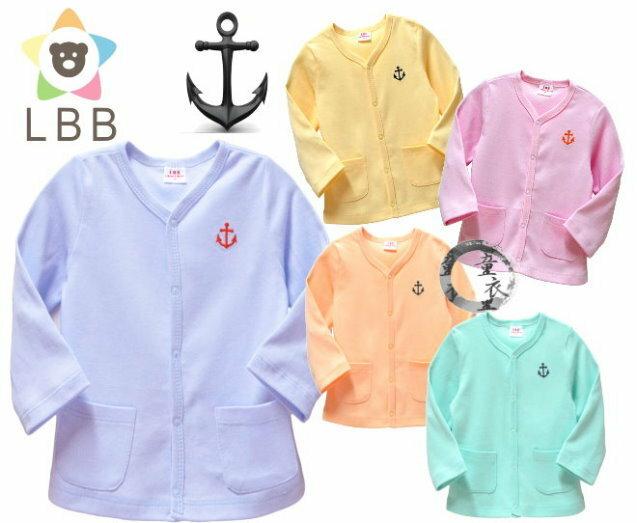 童衣圓 ~AD019~AD19船錨外搭 LBB 船錨繡花 前開 前排釦 口袋 小外套 外搭