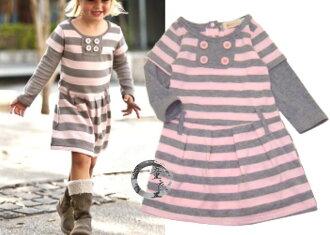 童衣圓【AG020】AG20接袖洋裝 長袖 甜美 休閒 俏麗 低腰 洋裝 連身裙~80.100.110