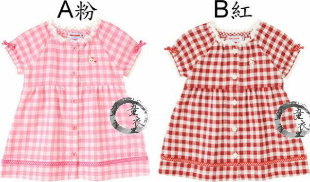 童衣圓~AG031~AG31小兔洋裝 可愛小兔 前開 傘狀 洋裝 裙式上衣^~80.90.