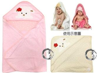 童衣圓 【K019】K19綿羊包巾 三角帽 護頭 印花綿 毛巾料 包巾 抱被 小被 嬰兒毯 壓箱 彌月禮
