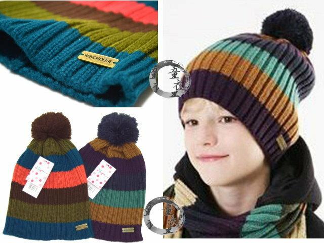 童衣圓【R036】R36拼色帽 保暖 球球 毛球帽 彈性 毛線帽 親子帽 秋冬 百搭 大人小孩均適用~