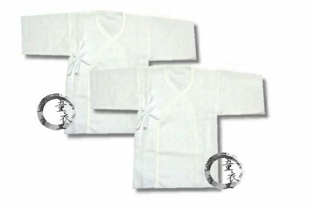 童衣圓【S002】S2台製紗布衣 台灣製 新生兒必備 純白 紗布衣 純綿 無螢光劑