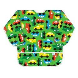 【美國Bumkins】防水兒童3-5歲 圍兜(長袖)-彩色車車 BKAS-227【紫貝殼】