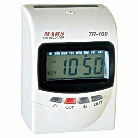 MARS TR-100 四欄位微電腦打卡鐘【變色螢幕】