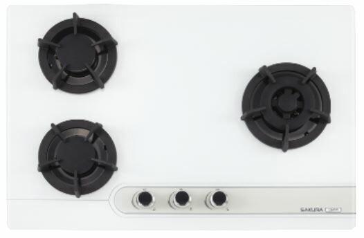 【品僑企業行】櫻花 G2633GB(黑色)/G2633GW(白色)三口大面板易清檯面爐