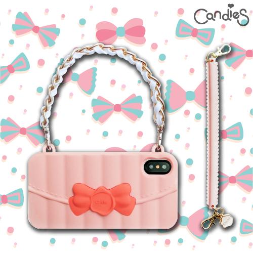 FENICE:【Candies】Matelasse系列晚宴包(粉)-IPhoneX