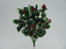 ★超低價★紅果白邊冬青束人造花空間景觀佈置造景