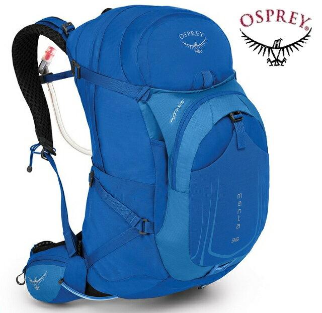 Osprey Manta AG 36 登山背包/健行背包/單車包/水袋背包 男款 藍 附贈水袋 背包套 台北山水