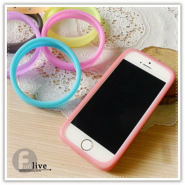 【aife life】環狀果凍矽膠手機套/手機邊框/止滑/手機保護殼/手機套/矽膠手環/iphone5 6 plus