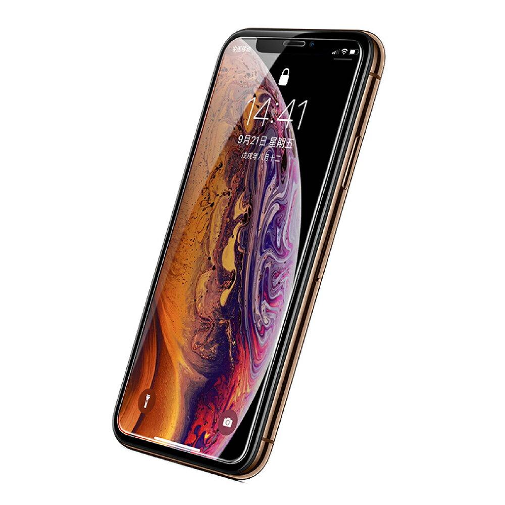 綠聯 iPhone XS MAX 9H鋼化玻璃保護貼 送貼膜神器 滿版