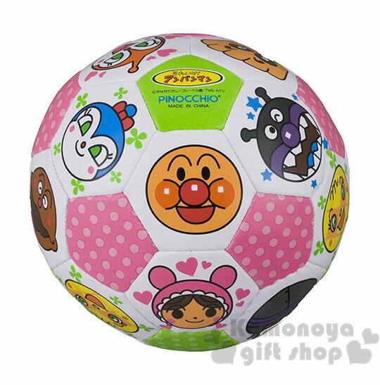 〔小禮堂嬰幼館〕麵包超人 小皮球玩具《白底.角色大臉滿版》適合1.5歲以上孩童