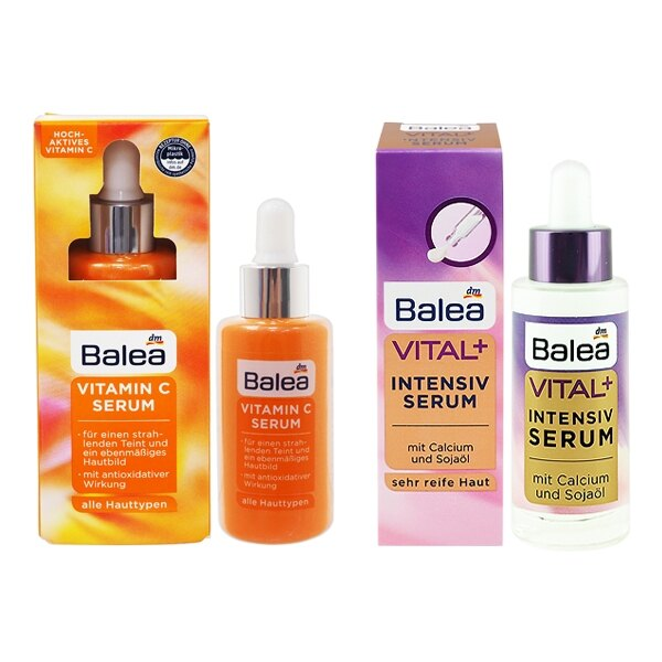 德國 Balea 維他命C淨白保濕/Vital+深層熟齡肌活力 精華安瓶(30ml) 款式可選【小三美日】◢D229497