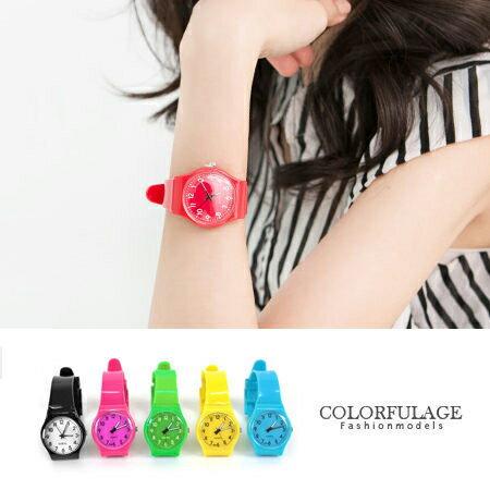 柒彩年代【NE600】史上最輕巧矽膠男女兼用手錶 果凍系列馬卡龍色腕錶~單支價格