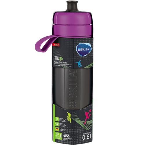 德國 BRITA Fill&Go Active 運動濾水瓶 紫色  (內含濾片 1片)