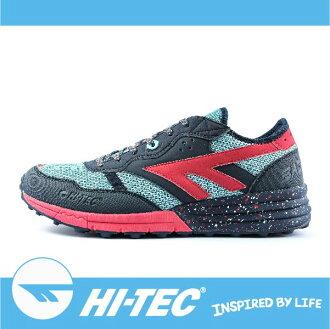 萬特戶外運動 HI-TEC 巴德沃特 BADWATER A005440032 男超輕野跑鞋 透氣 耐磨 舒適 緩衝性佳 深藍/紅色