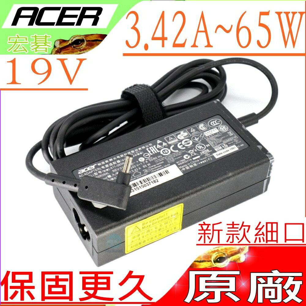 電池動力 ACER 65W 充電器(原廠細頭)-19V, 3.42A, S7-191-53334G12ass, S7-391-53314G12aws, S7-392, NP.ADT11.00F, S...