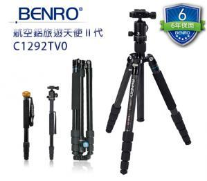 Canon Mall:BENRO百諾C1292TV0航空鋁旅遊天使二代可拆式碳纖維腳架V系列套組送原廠腳架袋勝興公司貨