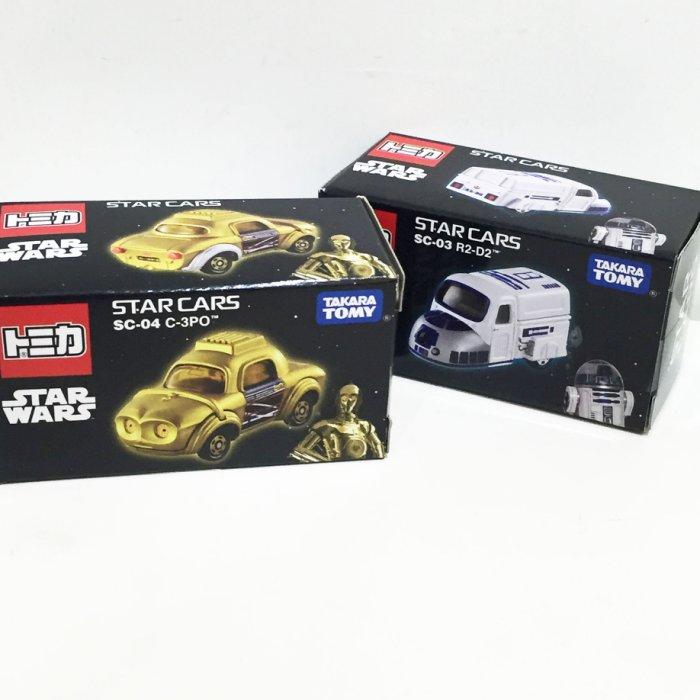 TOMY 玩具車 小汽車 星際大戰 原力覺醒 R2~D2 C~3PO 金屬模型車 玩具
