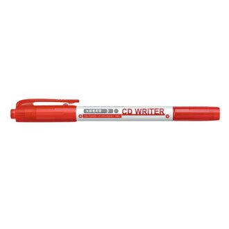 【雄獅】 CD30紅1.0/0.5mm雙頭萬用光碟筆