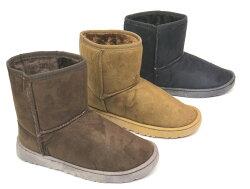 *雪靴* 暖暖內鋪毛雪靴A-1(咖啡/棕/黑)☆【彩虹屋】☆現+預