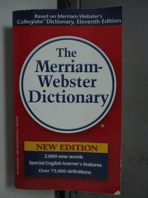【書寶二手書T1/原文書_LDG】The Merriam-Webster Dictionary_Not Available