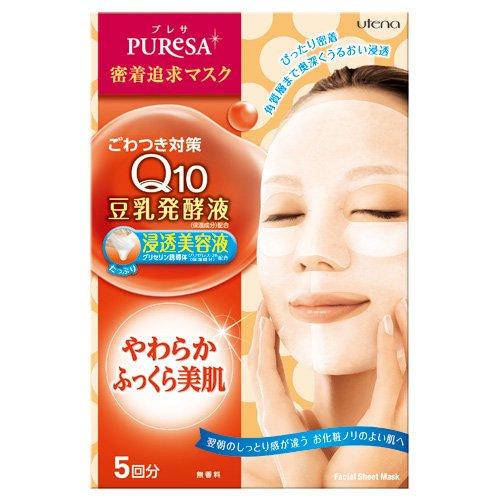 UTENA PUReSA 面膜 5 回分 ( 輔酶Q10 + 豆乳發酵液 )