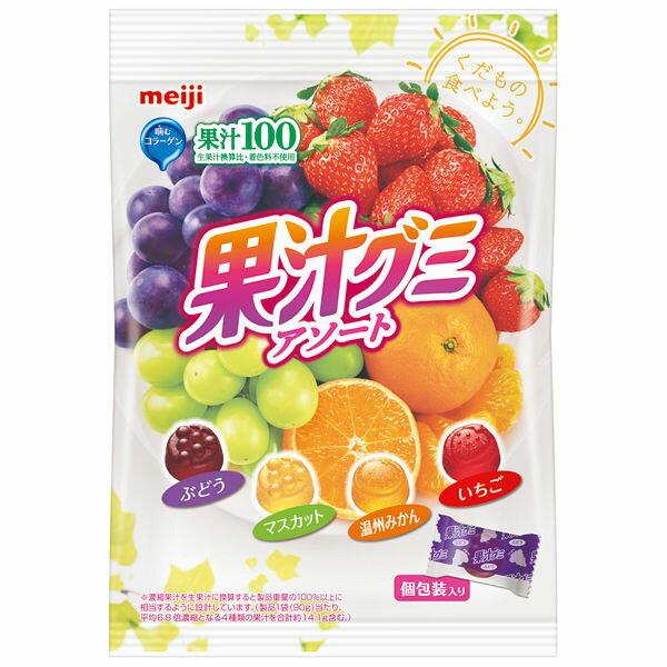 【日本代購】國產零食// meiji明治綜合果汁QQ糖/水果軟糖 90g