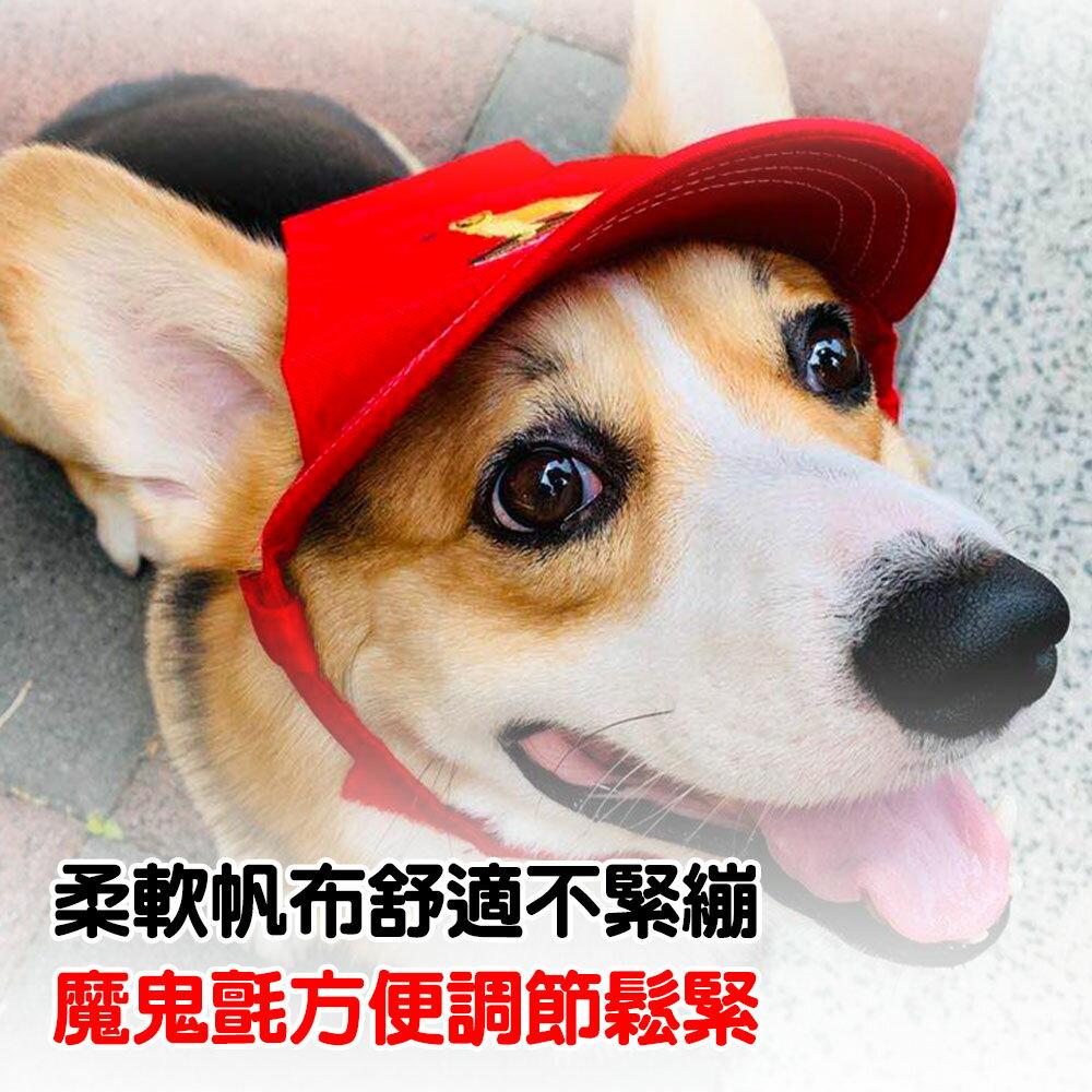 狗狗帽子 狗狗遮陽帽 棒球帽 露耳遮陽帽 舒適遮陽帽 逗趣變裝 福媽寵物 【A0045】