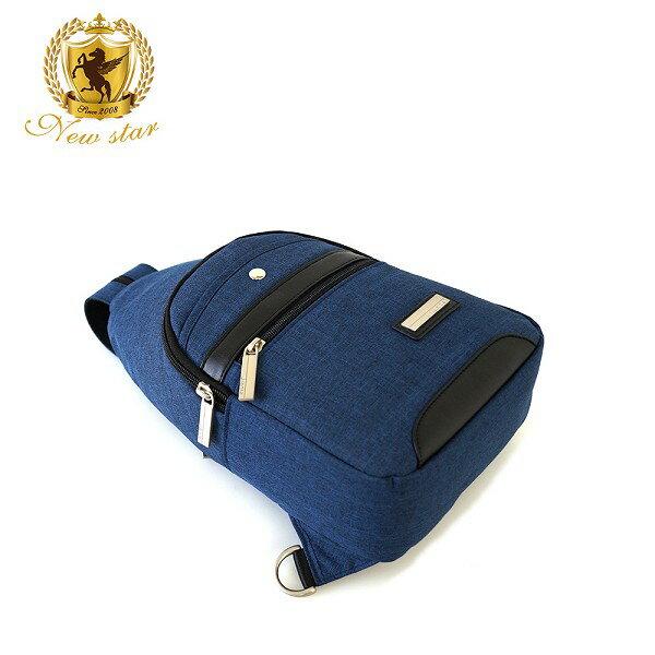 單肩背包 簡約防水拼接配皮前口袋斜胸包後背包包 NEW STAR BK243 5