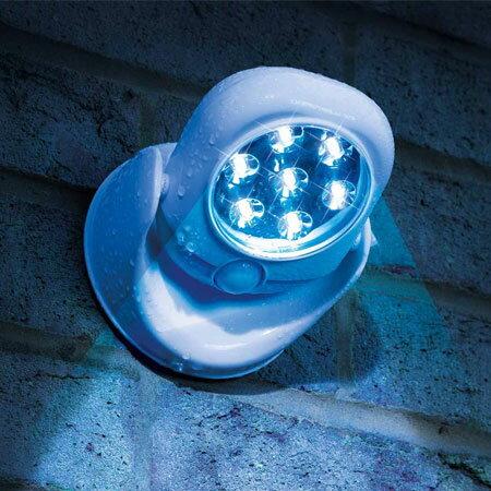 2017新款 Light angel LED智能人體感應燈 360度 防盜 車庫 玄關 旋轉 室內 戶外 兩用 夜燈【N102337】