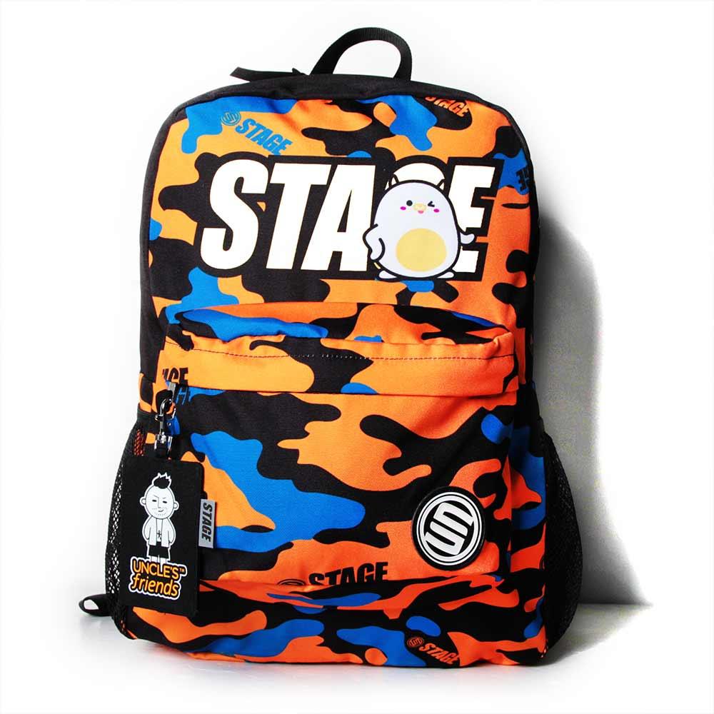 STAGE BAG × UNCLES FRIENDS TAURUS BACKPACK 橘黑色 金牛座 1