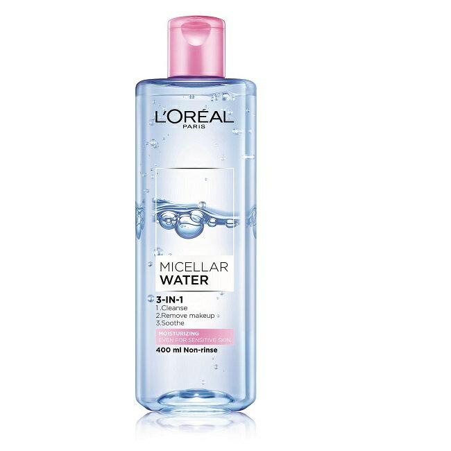 巴黎萊雅 三合一卸妝潔顏水-保濕型