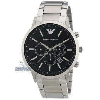 【錶飾精品】 ARMANI手錶 亞曼尼 經典都會時尚計時碼錶 日期 黑面鋼帶男錶AR2460 生日 情人節 聖誕節 禮物